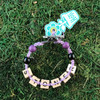 HOTI Hemp Handmade Stoner Light Pale Purple Hemp Square Wood Cube Alphabet Brown Natural Beads Purple Black Round Bead Men's Women's Ladies Woman Man Unisex Jewellery Word Up Roach Clip Bracelet Hand Crafted Made in Toronto Made in Ontario Made in Canada Beaded Wood Beads Square Beads 420 Alligator Clip Marijuana Cannabis Accessory Pot Weed Accessories Clip It Clip Toronto Ontario Canada Jewelry