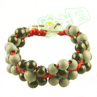 HOTI Hemp Handmade Floral Bouquet Red Hemp Black Gray Grey Wood Beads Round Bead Womens Ladies Flower Power Bracelet Metal Hollow Petal Charm Hand Crafted Made in Toronto Made in Ontario Made in Canada Beaded Wood Beads Flowers Round Beads 420 Alligator Clip Roach Clip Marijuana Mary Jane Cannabis Clip It Clip Toronto Ontario Canada Canadian