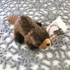 """Stuffed Animal House 7"""" Brown Beaver North American Naturals Canada Soft Wildlife Cuddly Cute Adorable Canadian Wild Plush Realistic Toy Buck Teeth Fuzzy Furry Critter NB-01 Side"""