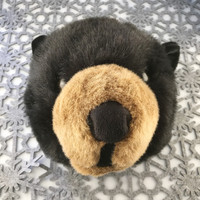 "Stuffed Animal House 11"" Black Bear Brown Head Wall Mount Toy Walltoy Wild Soft Furry Fuzzy Plush Critter Canadian North American Wildlife Hunting"