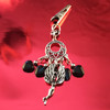 HOTI Hemp Handmade Black Blue Glass Hearts Charms Silver Metal Flying Winged Fairy Charm Angel Pendant Roach Clip Heart Beads Love Soars Rocks Chandelier Made in Canada Hand Crafted Made in Toronto Made in Ontario Valentine Fantasy Clip-It 420 Marijuana Cannabis Weed Alligator Clip Rock Ladies Women's Toronto Ontario Canada Canadian Made