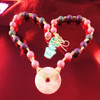 HOTI Hemp Handmade Rose Quartz Pink Donut of Healing Love Stone Purple Gray Grey Beads Wood Bead Natural Hemp Crystal Semiprecious Mineral Ladies Women's DOH! Collection Knotted Necklace Hand Crafted Made in Toronto Made in Ontario Made in Canada Boho Chic Beaded Toronto Ontario Canada Canadian Made