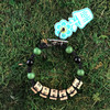 HOTI Hemp Handmade Reefer Black Hemp Square Wood Cube Alphabet Brown Natural Beads Green Black Round Bead Men's Women's Ladies Woman Man Unisex Jewellery Word Up Roach Clip Bracelet Hand Crafted Made in Toronto Made in Ontario Made in Canada Beaded Wood Beads Square Beads 420 Alligator Clip Marijuana Cannabis Accessory Pot Weed Accessories Stoner Clip It Clip Toronto Ontario Canada Canadian Jewelry