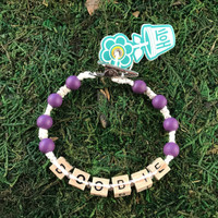HOTI Hemp Handmade Doobie White Hemp Square Wood Cube Alphabet Brown Natural Beads Purple Round Bead Men's Women's Ladies Woman Man Unisex Jewellery Word Up Roach Clip Bracelet Hand Crafted Made in Toronto Made in Ontario Made in Canada Beaded Wood Beads Square Beads 420 Alligator Clip Marijuana Cannabis Accessory Pot Weed Accessories Stoner Clip It Clip Toronto Ontario Canada Canadian Jewelry