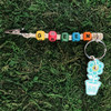 HOTI Hemp Handmade Green Natural Hemp Keychain Key Chain Roach Clip Wood Cube Square Red Yellow Turquoise Blue Orange Alphabet Beads Word Up Made in Canada Hand Crafted Made in Toronto Made in Ontario Beaded Cannabis Marijuana Accessory Dope Stoner Gift Weed Accessories Pot 420 Clip Clip-It Alligator Clip Canadian Toronto Ontario Canada