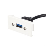 USB 3.0 Female Faceplate Wall Outlet Module
