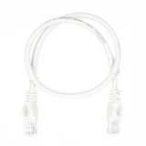 0.5m RJ45 Cat5e Cable White Snagless