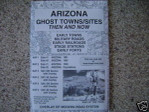 Ghost Town Maps Sites Then and Now Arizona Treasure