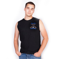 Black Sleeveless T-Shirt