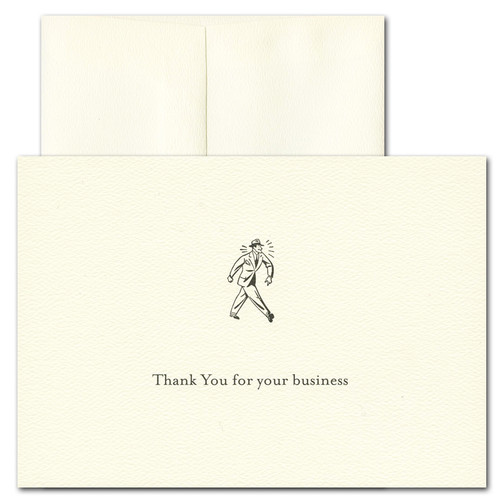 Boxed business thank you cards business appreciation retro business thank you card retro colourmoves