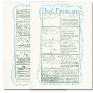 "Saturn Press All Occasion Card ""Cloud Formations"" Cover and back of card show drawings and description of the different types of cloud formations."