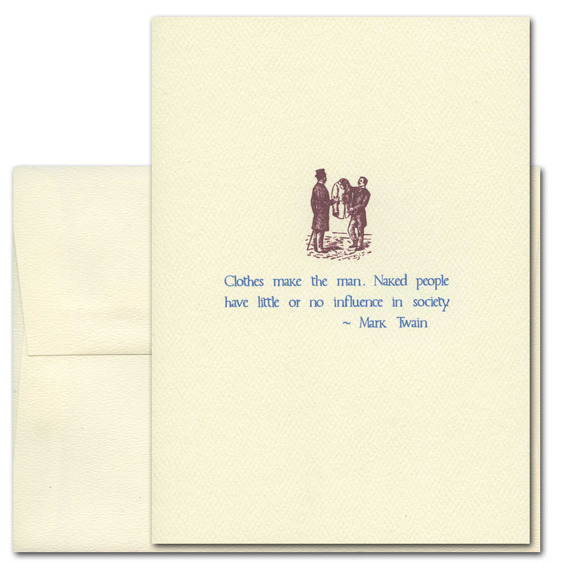 Boxed Quotation Cards For Business  Clothes Make The Man -9304