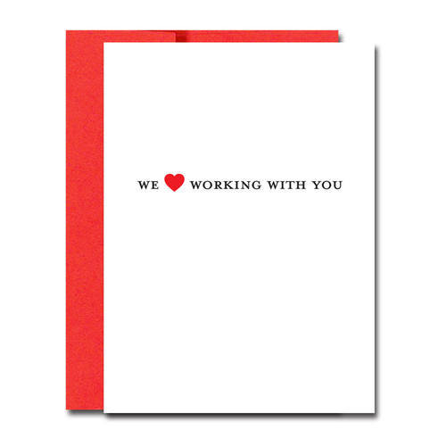 Boxed Valentines Day Note Cards for Business Love Working with You – Boxed Valentines Cards