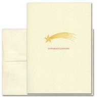 "Business Congratulations Card Shooting Star cover with Shooting Star image and ""Congratulations"""