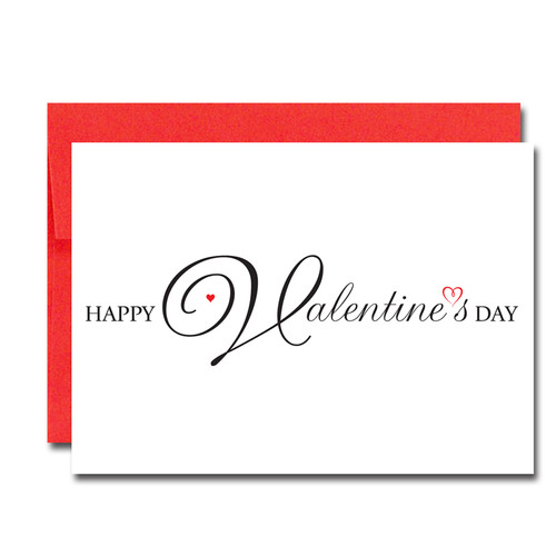 Boxed Valentines Day Cards for Business Script Heart – Valentine Card Words