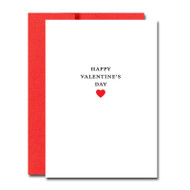 """Business Basics Valentine Note Card on the cover has the words """"Happy Valentine's Day"""" above a red heart illustration"""