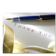 "Thank You Postcard - ""Written Appreciation Postcard"" is a photo of fountain pen resting on a paper that says Thank you."