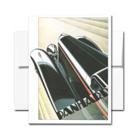 Art Deco Auto Note Card