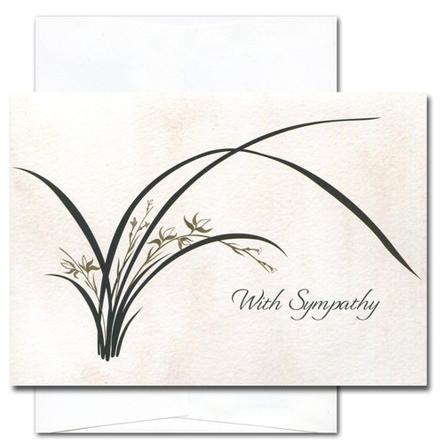 Boxed sympathy card wild orchid sympathy card wild orchid cover with a contemporary illustration of a blooming wild orchid plant thecheapjerseys Images