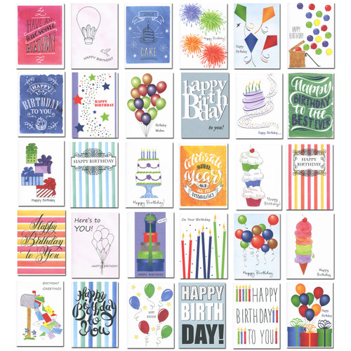 Boxed Business Birthday Cards Well Versed Assortment – Boxed Birthday Card Assortment