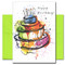 """Birthday Card – Big Cake inside are the words: Hope it's the biggest, the best and the brightest ever!"""""""