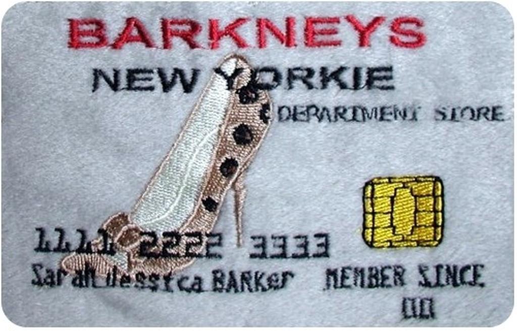 Barkneys New Yorkie Credit Card Plush Dog Toy