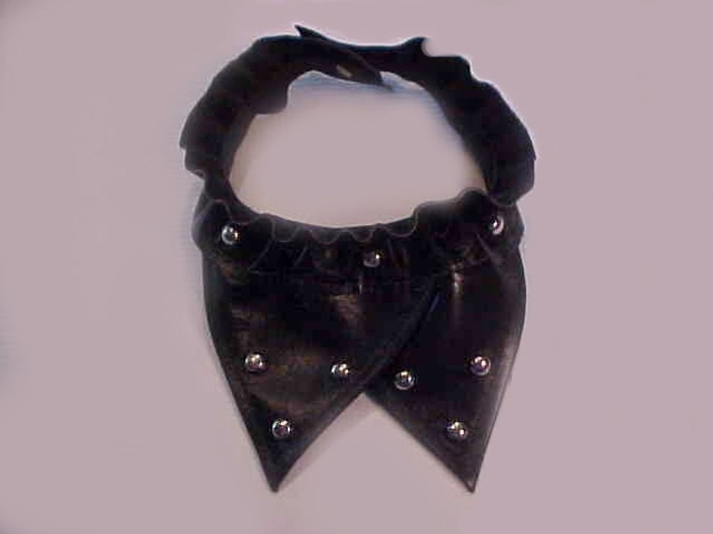 Studded Leather Biker Dog Bandana