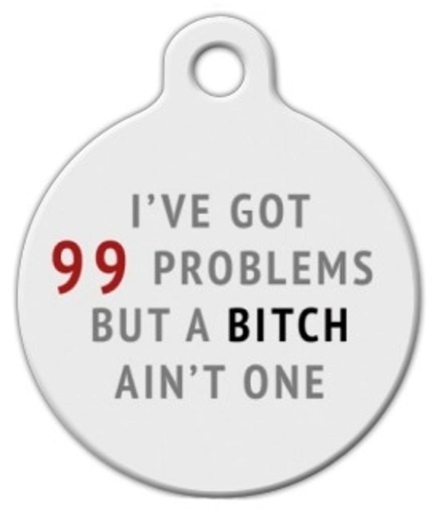 99 Problems Dog ID Tag