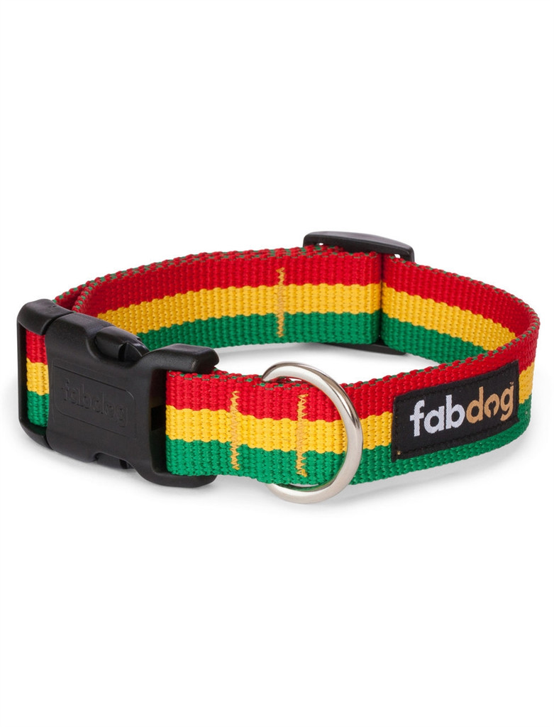 Rasta Dog Collar