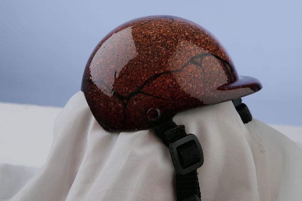 Airbrushed Orange Granite Dog Helmet
