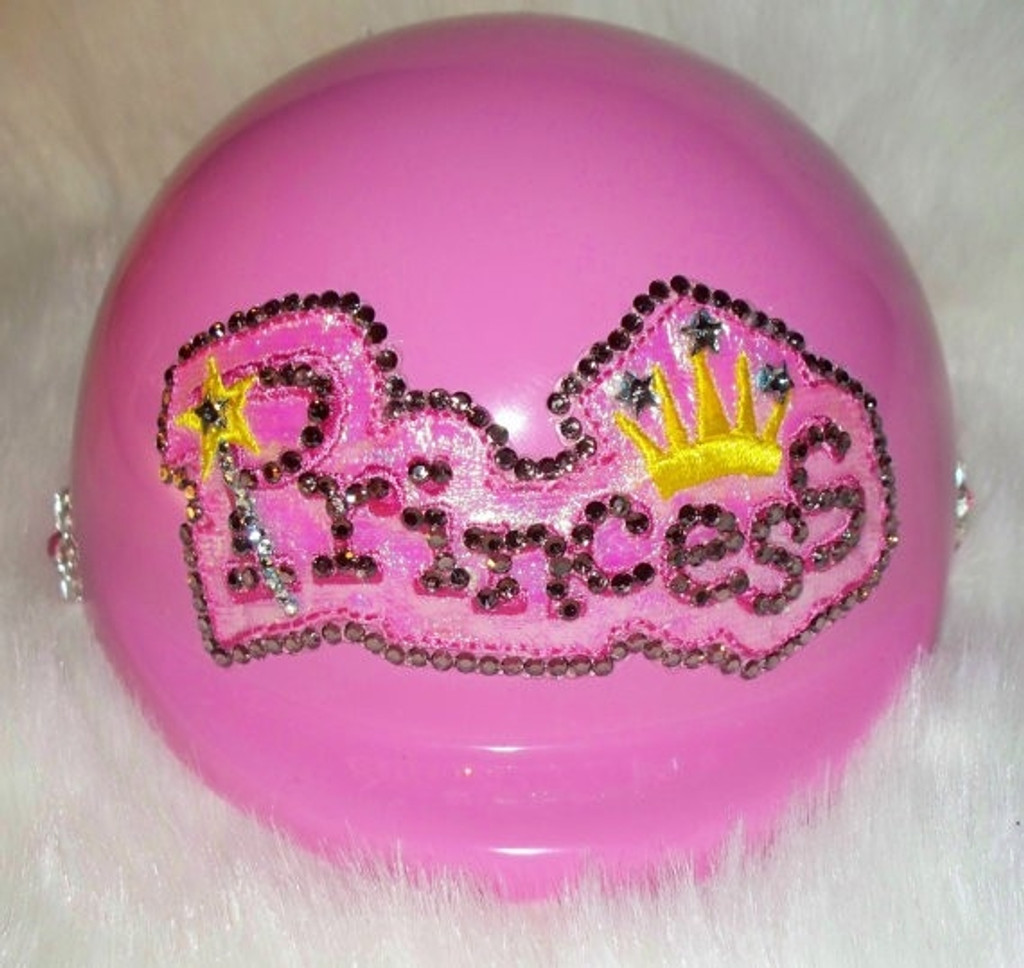 Pink Princess Dog Helmet