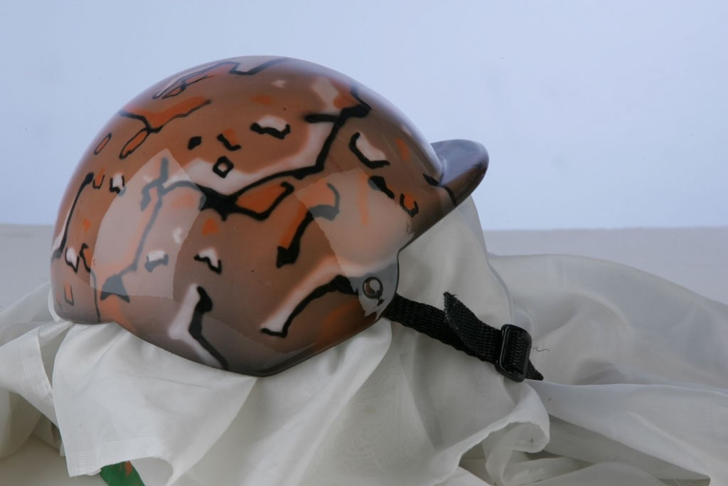 Airbrushed Camo Dog Helmet