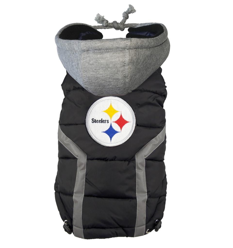 Pittsburgh Steelers Puffer Dog Vest Jacket