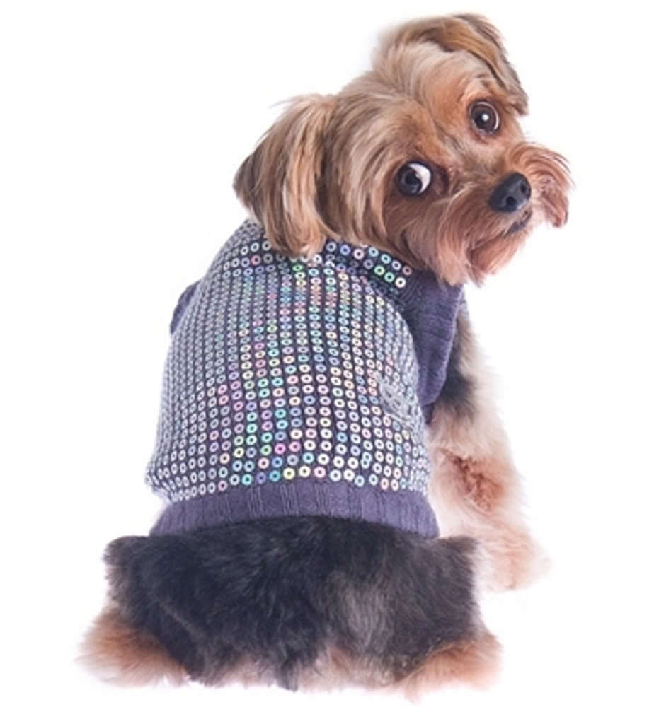 Sequin Dog Sweater