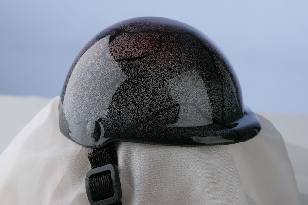 Airbrushed Granite Dog Helmet