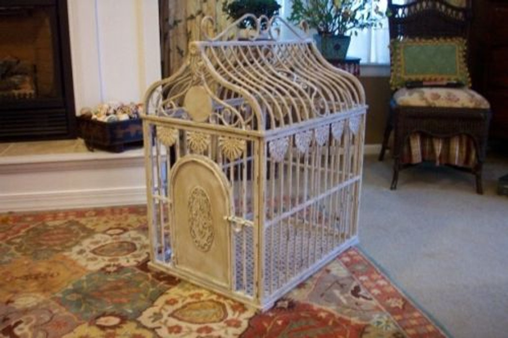 wrought iron dog crate