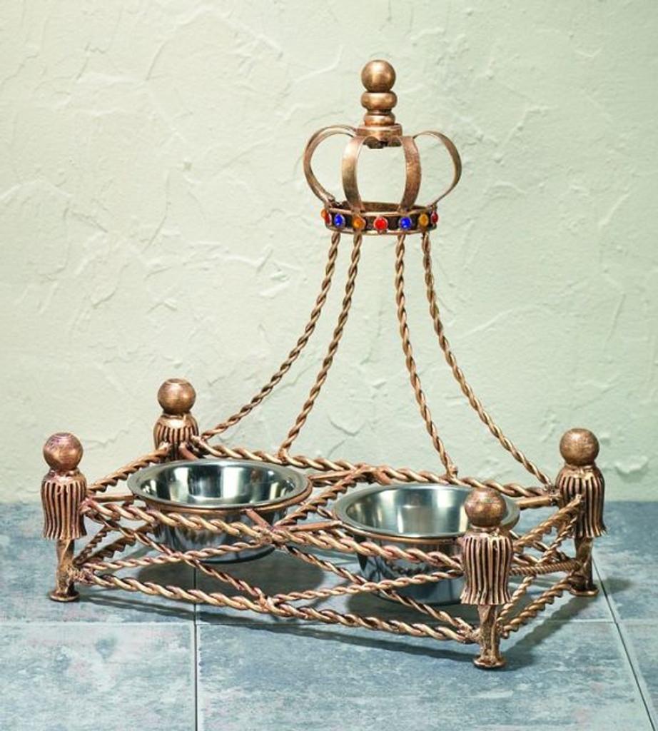 antique gold crown feeder