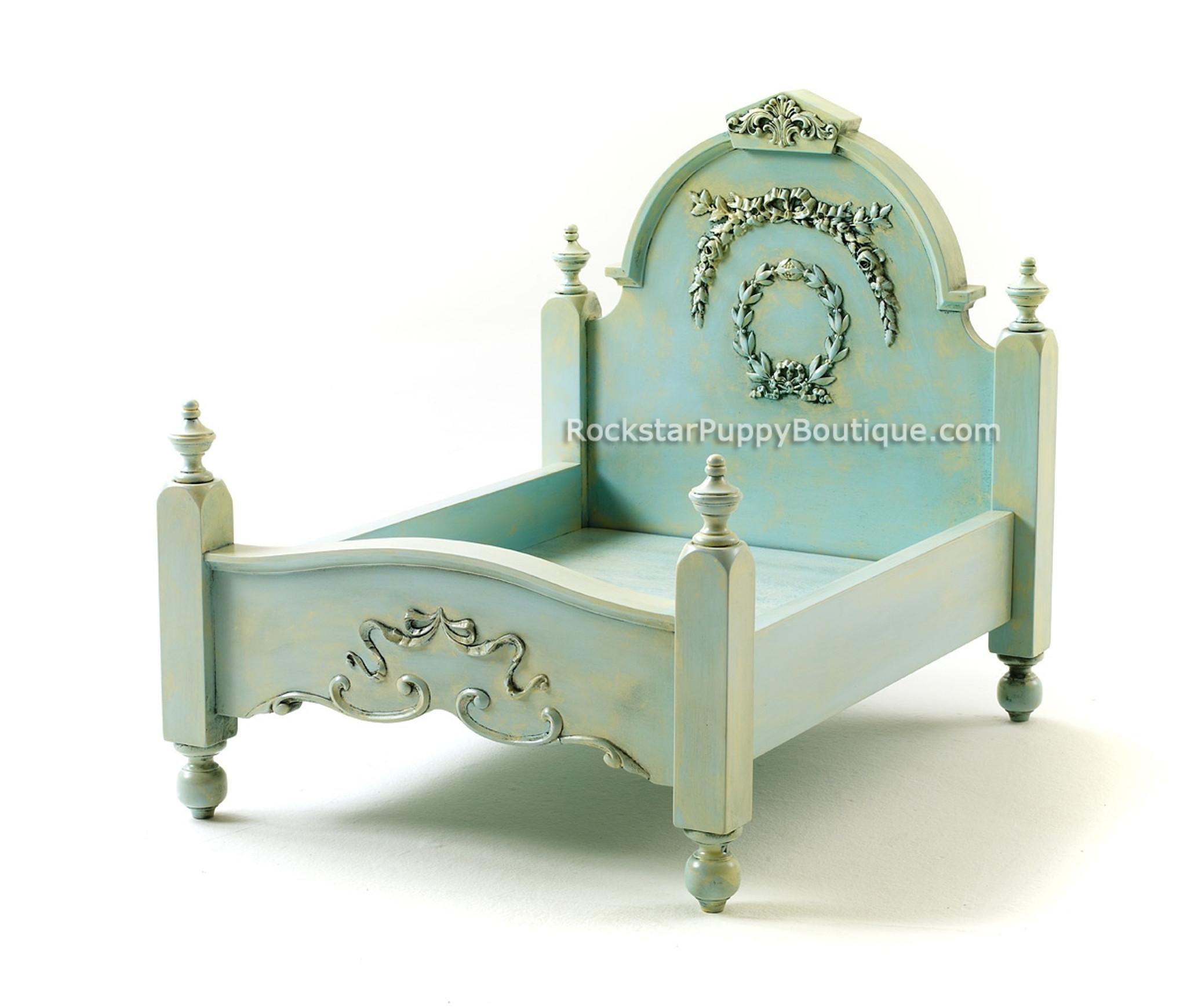 shabby chic dog bed aquamarine