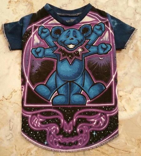 Grateful Dead Blue Bear Dog Tee