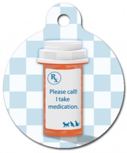 I Take Medication Medical Alert Dog ID Tag