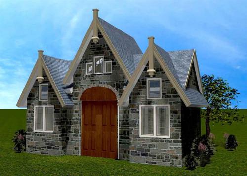Adirondack Style Dog House