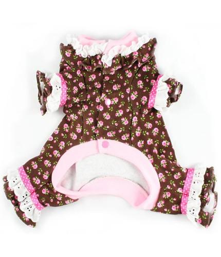 Lacey Cotton Pink Roses Dog Pajamas