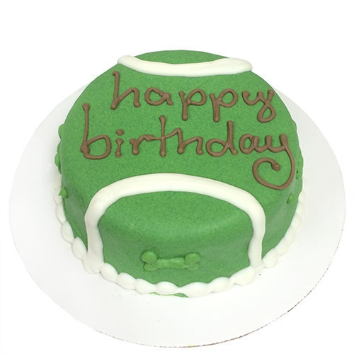Tennis Ball Dog Birthday Cake