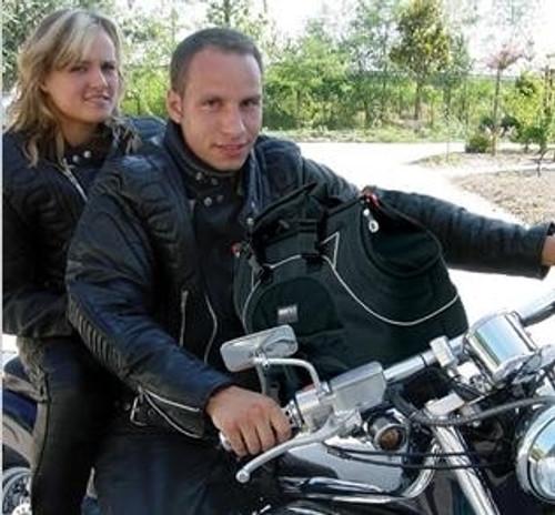 usb black label plus motorcycle dog carrier