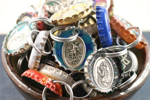 Religious Saints Bottle Cap Dog Collar Charm