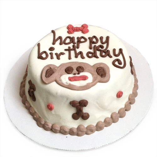 Sock Monkey Dog Birthday Cake
