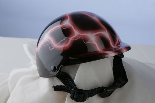 Pink Lightning Dog Helmet