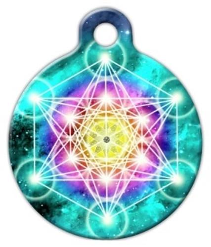 Sacred Geometry Metatron's Cube Dog ID Tag