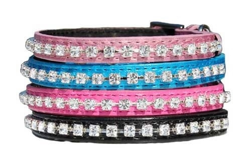 Beau Nouveau Crystal Bling Dog Collar