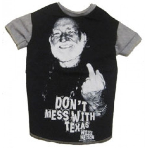 Willie Nelson Don't Mess with Texas Dog Tee